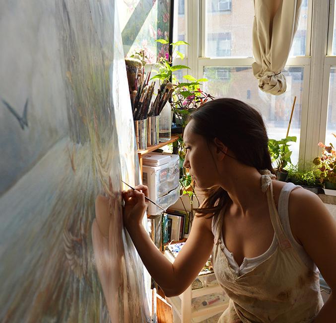 Hannah Faith Yata - Artist at Work