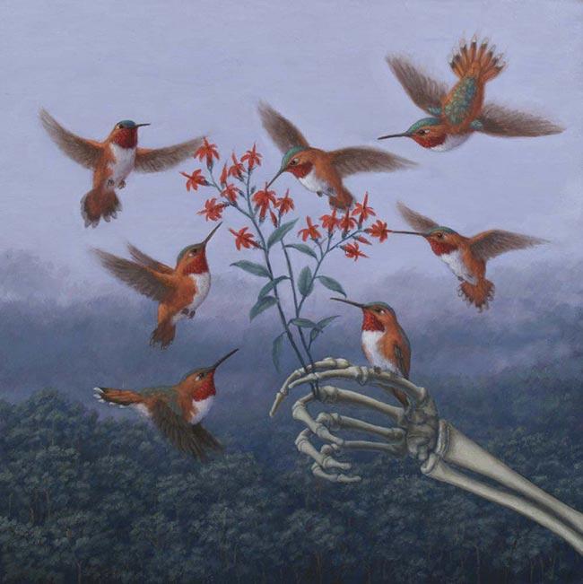 Sandra Yagi - Hummingbird and Hand