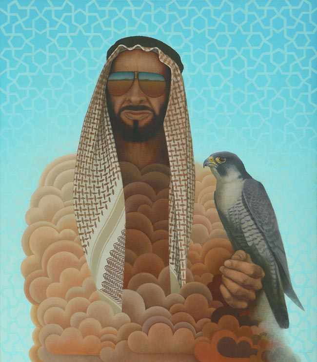 Erlend Tait - Portrait of Sheikh Zayed