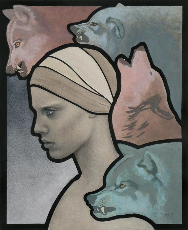 Erlend Tait - Valkyrie and Wolves