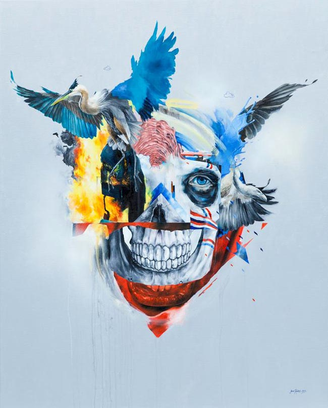 Joram Roukes - Heron, Vulture, Fire