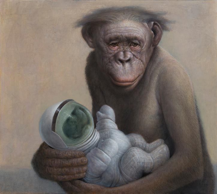 Chris Leib - Bonobo and Child