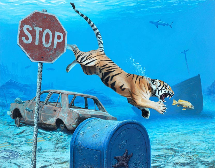 Josh Keyes - The Chase