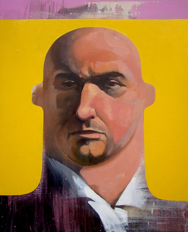 Michael Reeder - Portrait With Yellow Chair