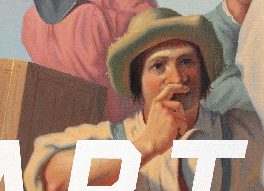 Shawn Huckins - Lighter Relieving A Steamboat Aground: Art Serious (Detail 2)