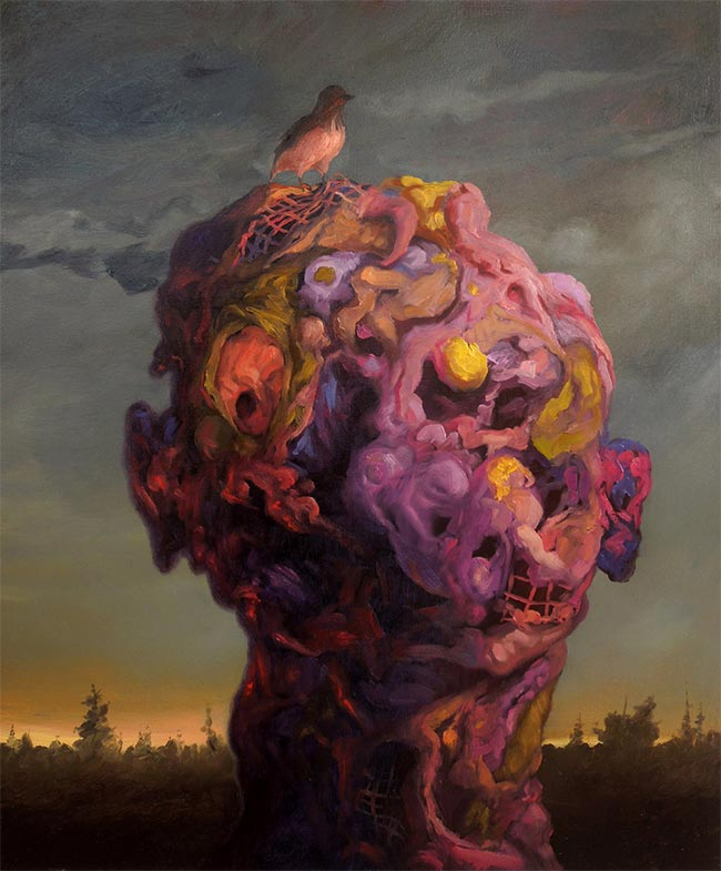 Adrian Cox - Border Creature with Bird