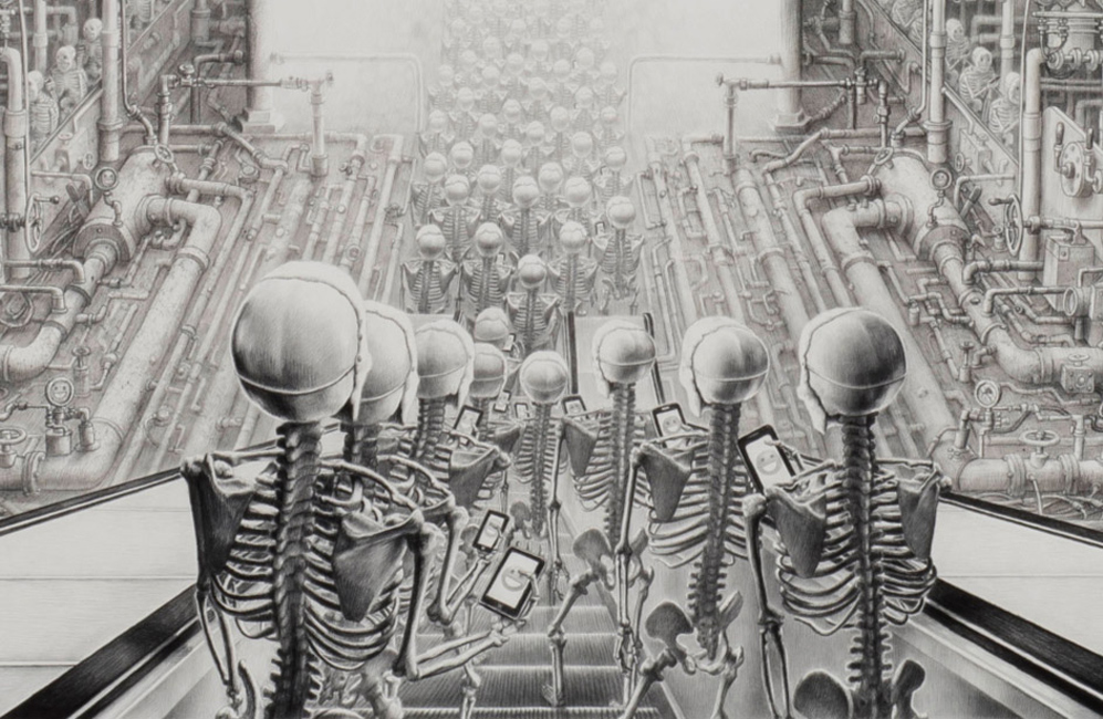 Laurie Lipton - HAPPY, (Detail)