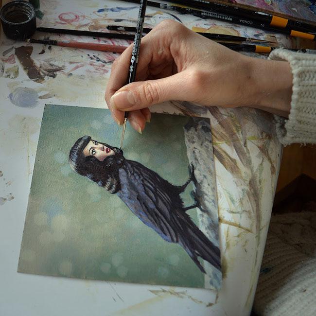 Jana Brike - Artist's Hand at Work