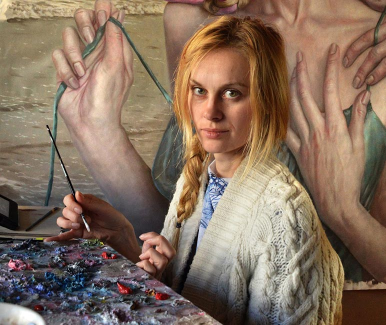 Jana Brike - Jana Brike at Work in Her Studio