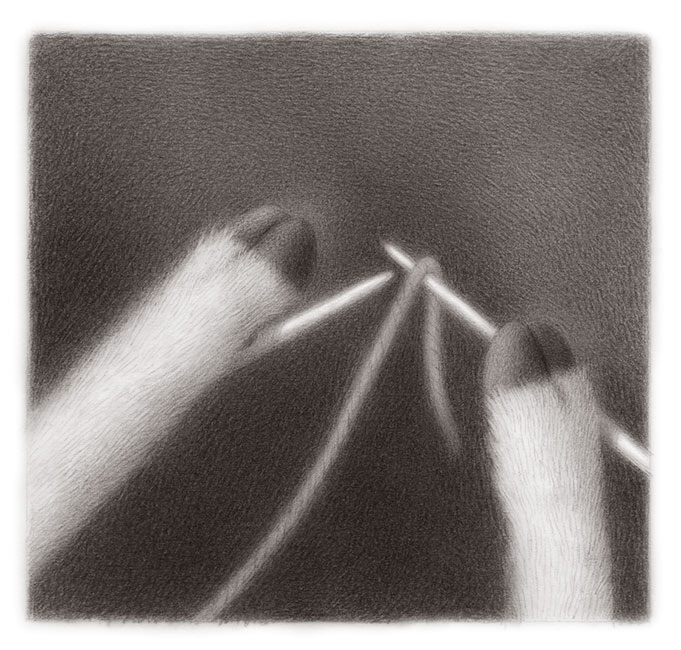 Renee French - Goat Knitting