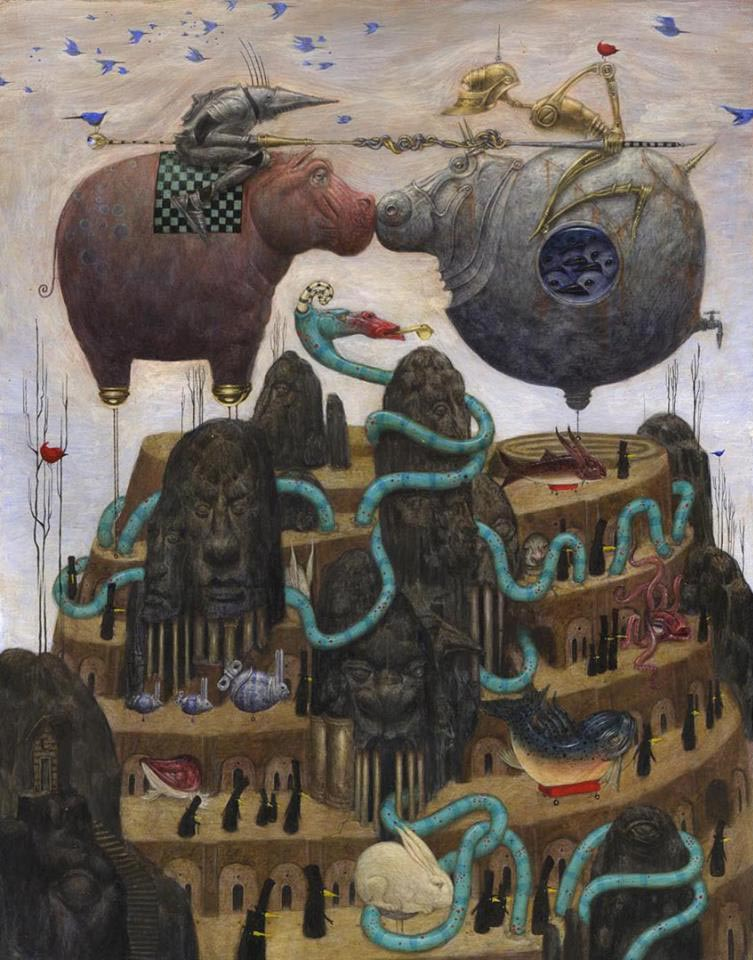 Bill Carman - The Golden Whistle Jousting Hippo
