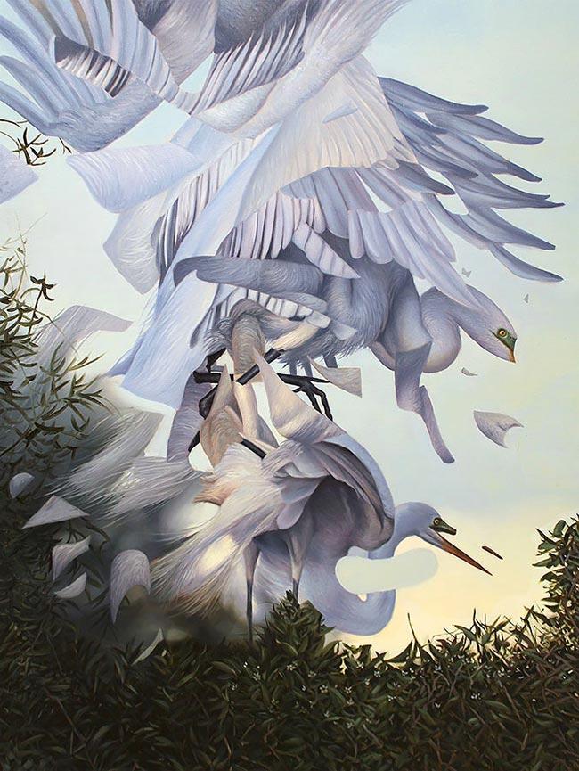 Angela Gram - Egrets Mating