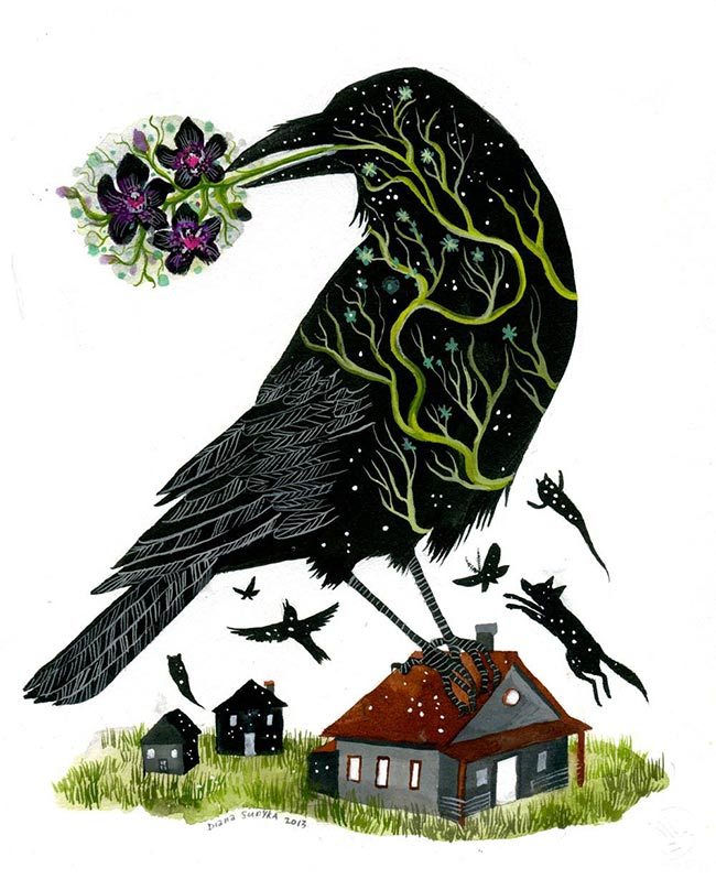 Diana Sudyka - A Raven Alighted