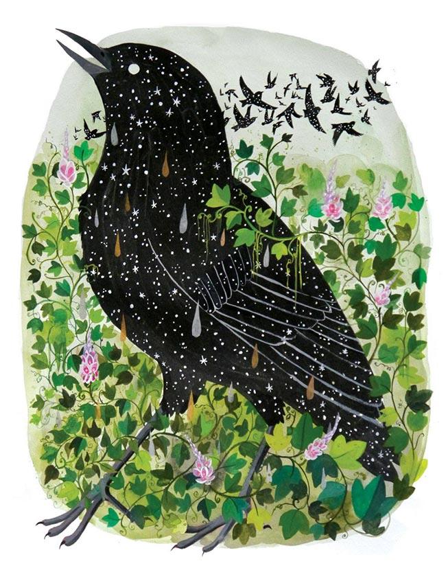 Diana Sudyka - Starlings and Kudzu