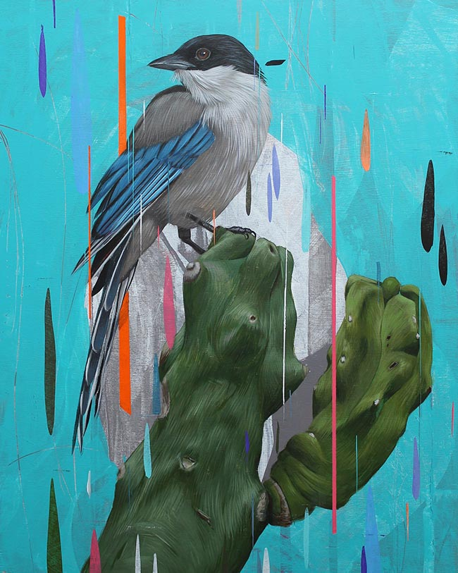 Frank Gonzales - Azure Winged Magpie & Totem