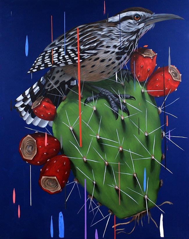 Frank Gonzales - Cactus Wren and Nopal