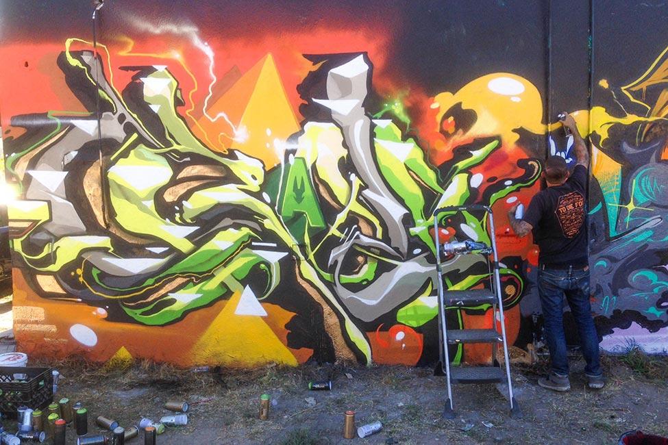 Greg Craola Simkins - Graffiti