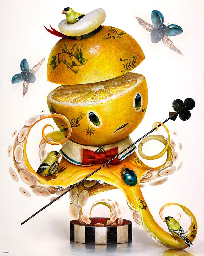 Greg Craola Simkins - Yellow