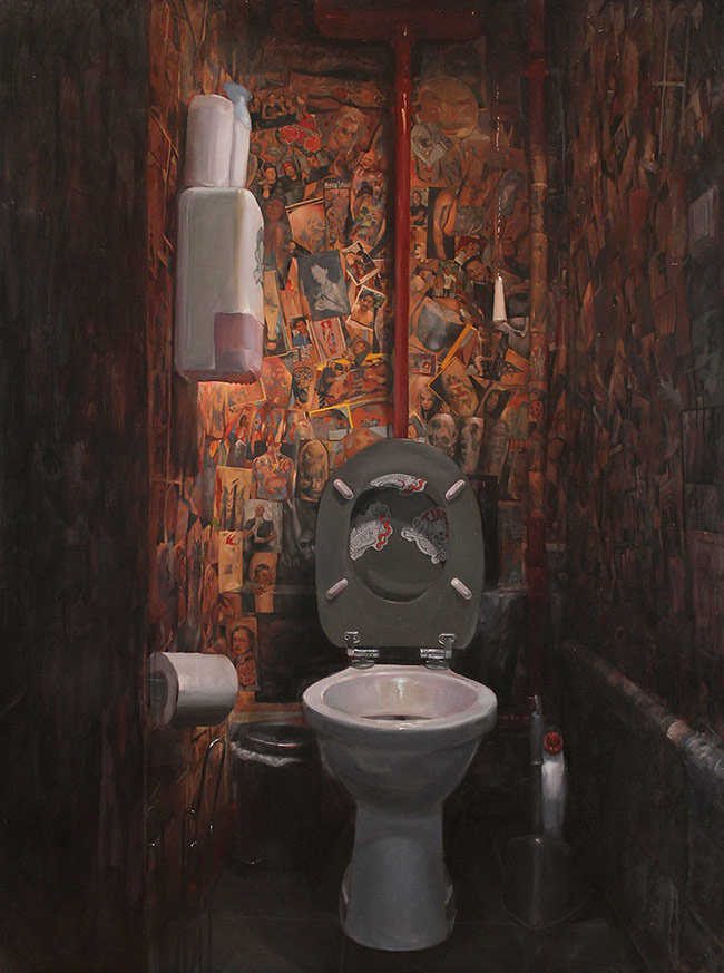 Shawn Barber - Tin Tin's Toilette, Paris, France (Painted for CHG's 10th Anniversary Exhibition)