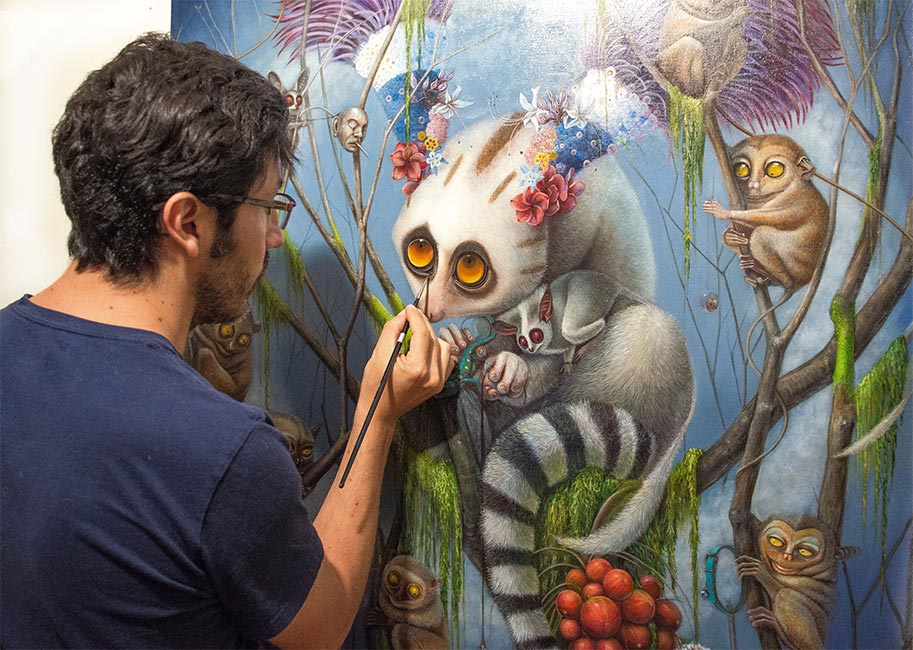 Jean-Pierre Arboleda - Artist at Work