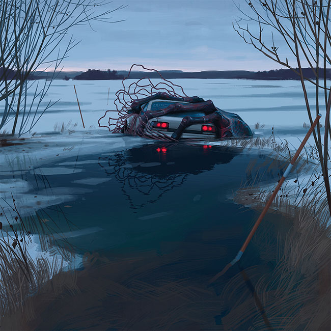 Simon Stalenhag - Bio Car Grab