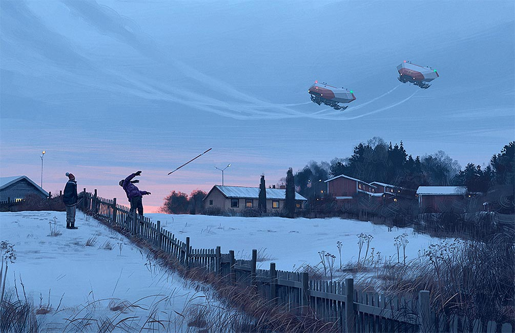 Simon Stalenhag - Fly By