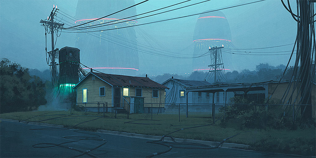Simon Stalenhag - Local Servers
