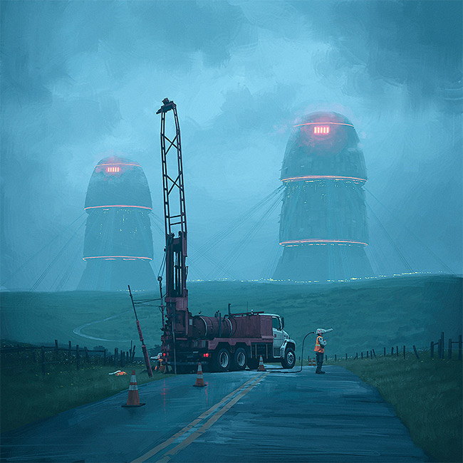 Simon Stalenhag - Roadwork