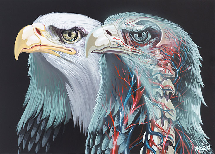 Nychos - Translucent Eagle Head