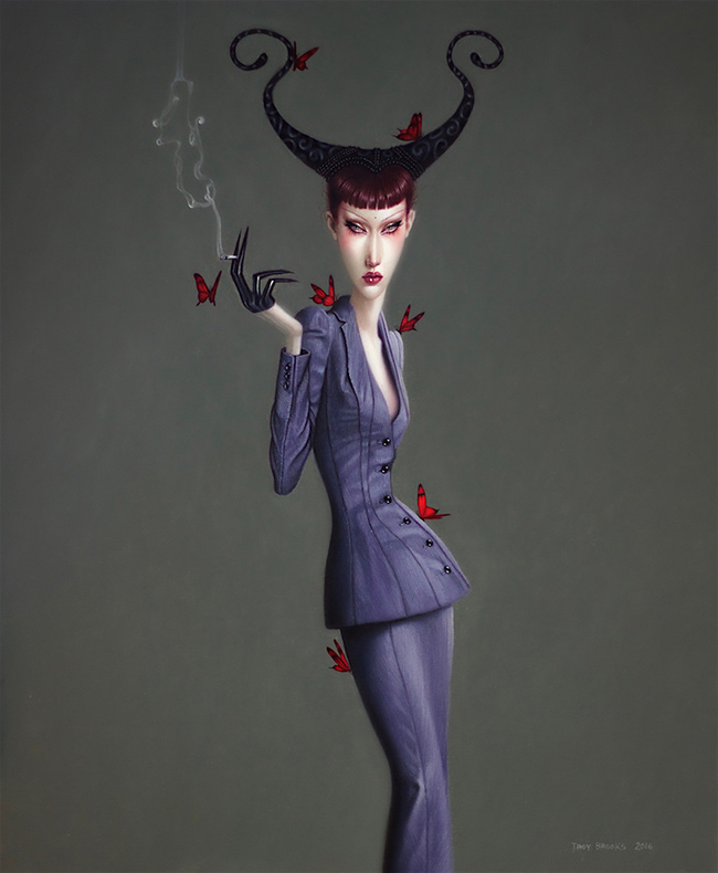 Troy Brooks / Gallery House & Corey Helford Gallery - Bumble Sonnet for Saint Lucifer