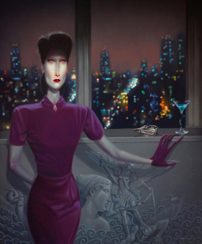 Troy Brooks / Gallery House & Corey Helford Gallery - Night Gallery