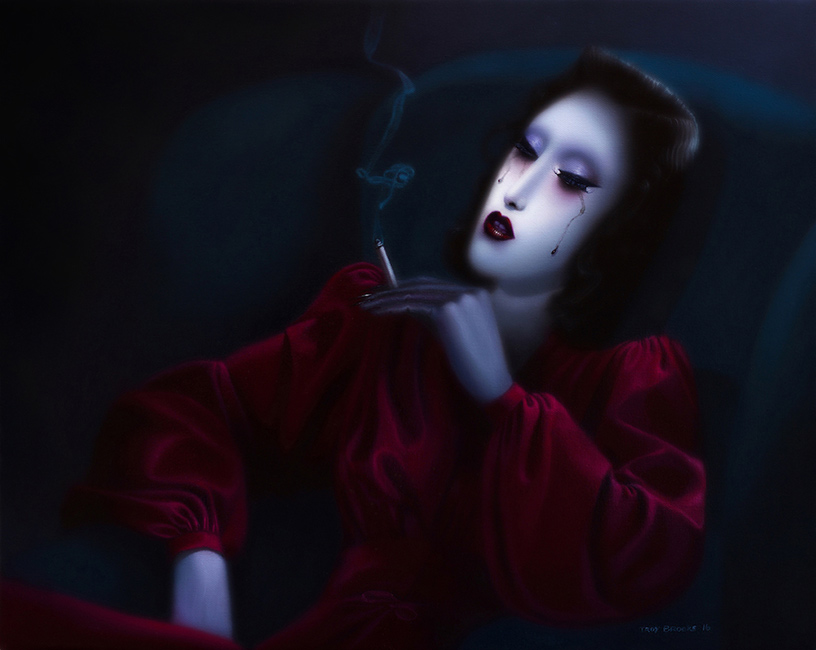 Troy Brooks / Gallery House & Corey Helford Gallery - Only the Wolves are Listening