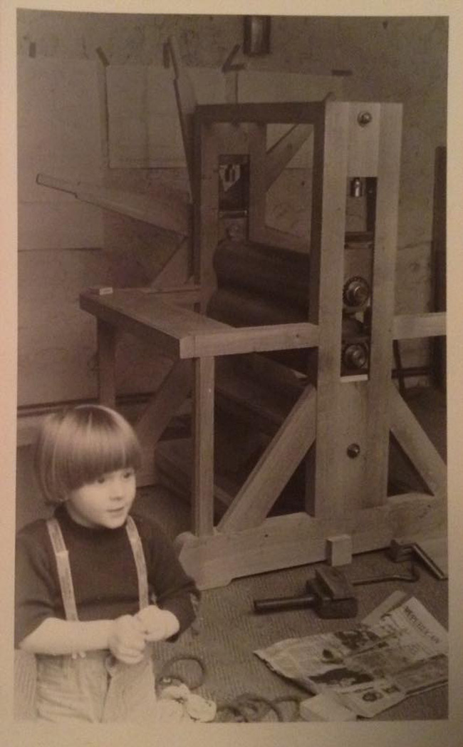 Jean 'Turf One' Labourdette - Artist as a Boy in Father's Studio