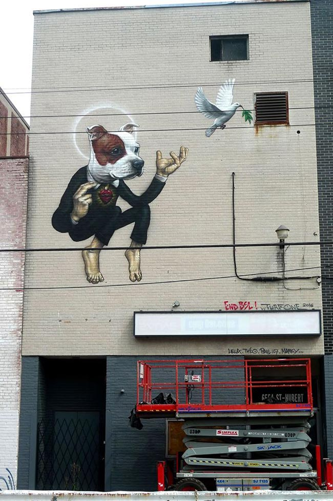 Jean 'Turf One' Labourdette - End BSL Mural