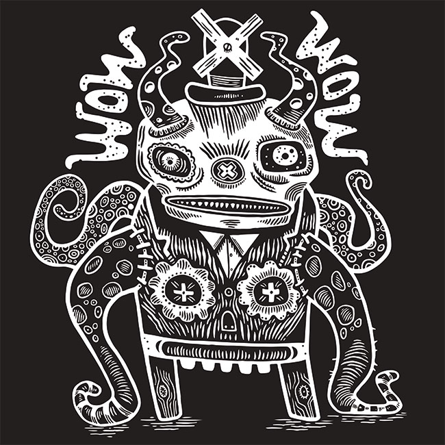 WOW x WOW Dude T-Shirt (Designed by Tim Lee)