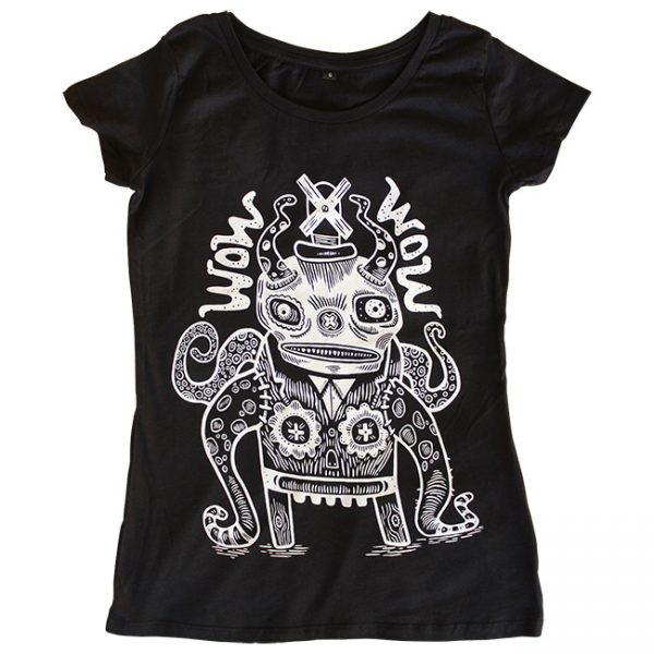 WOW x WOW Women's Fitted Dude T-Shirt (Designed by Tim Lee)
