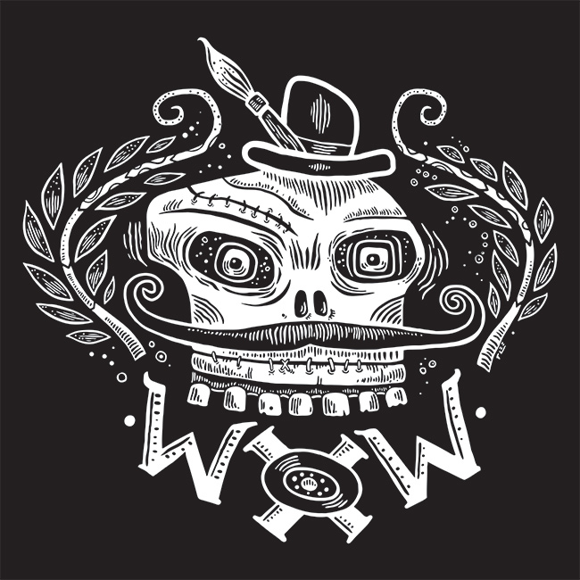 WOW x WOW Girls Fitted Skully Tee Design