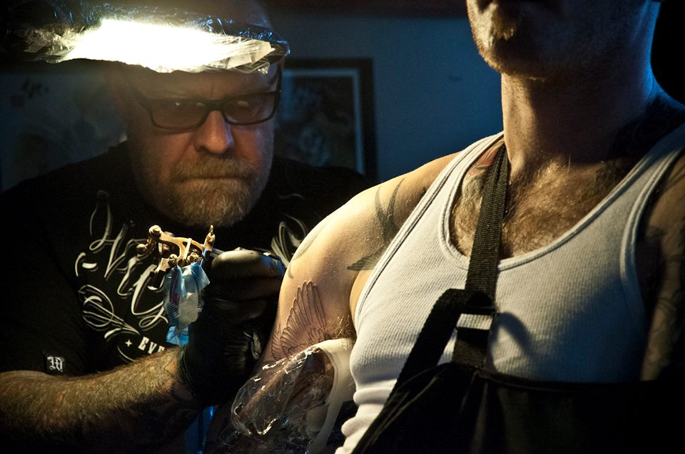 Jean 'Turf One' Labourdette - Jean Being Tattooed by TinTin