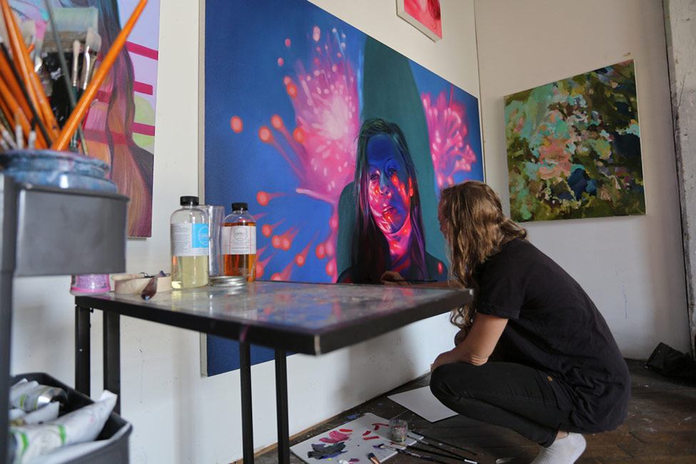 Jen Mann - Artist at Work in Studio 1