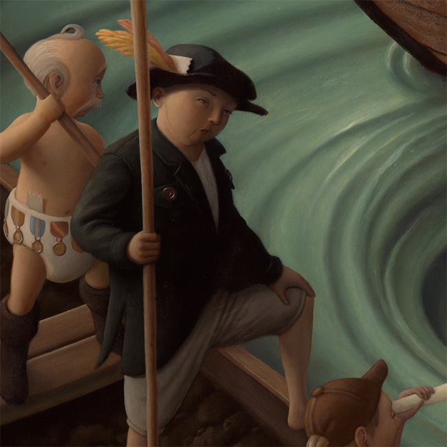 Steve Chmilar - Three Boats (Detail 2)