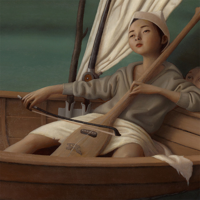 Steve Chmilar - Three Boats (Detail 3)