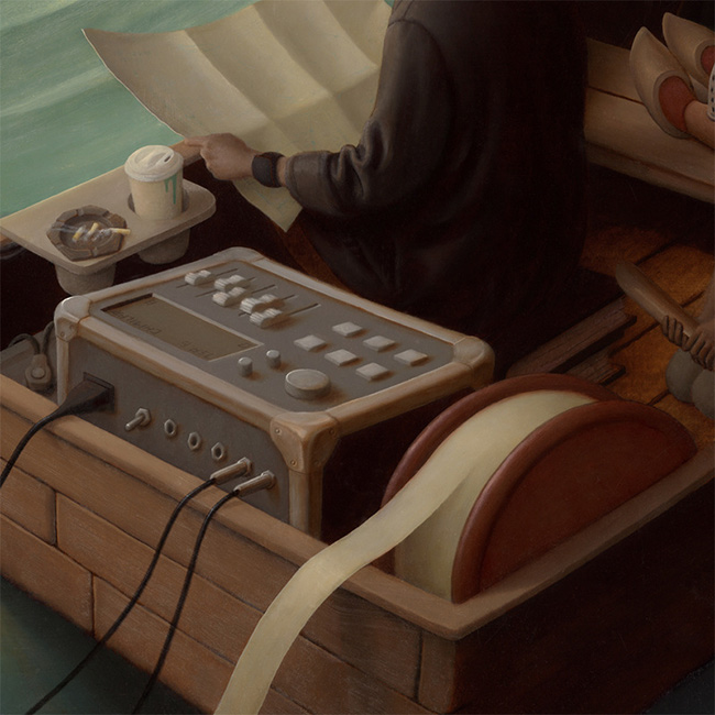 Steve Chmilar - Three Boats (Detail 4)