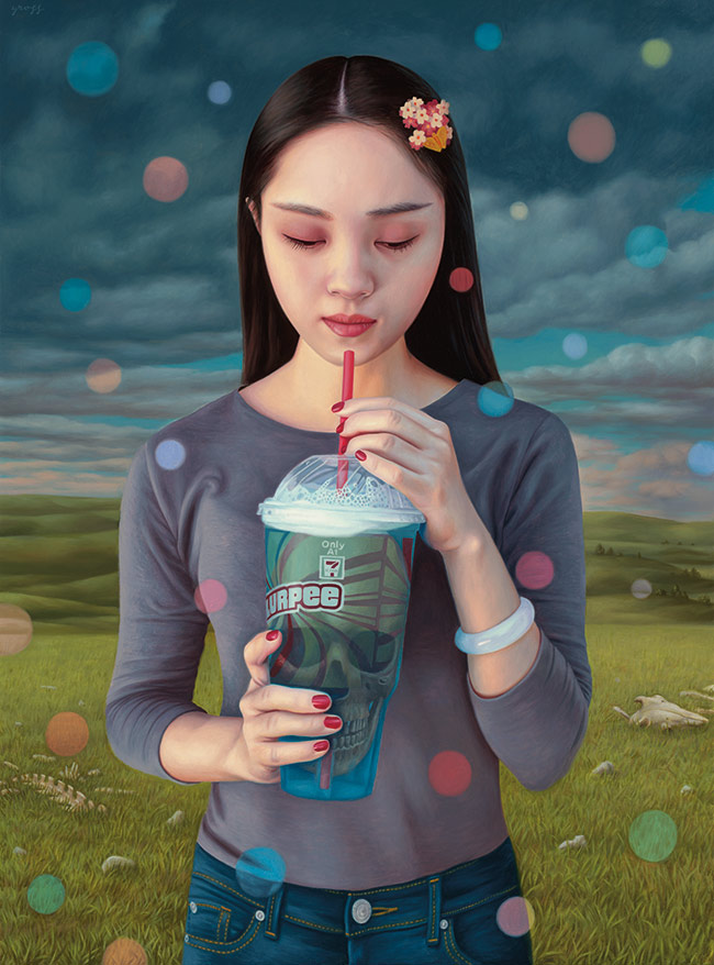 Alex Gross - Contemplation (Slurpee)