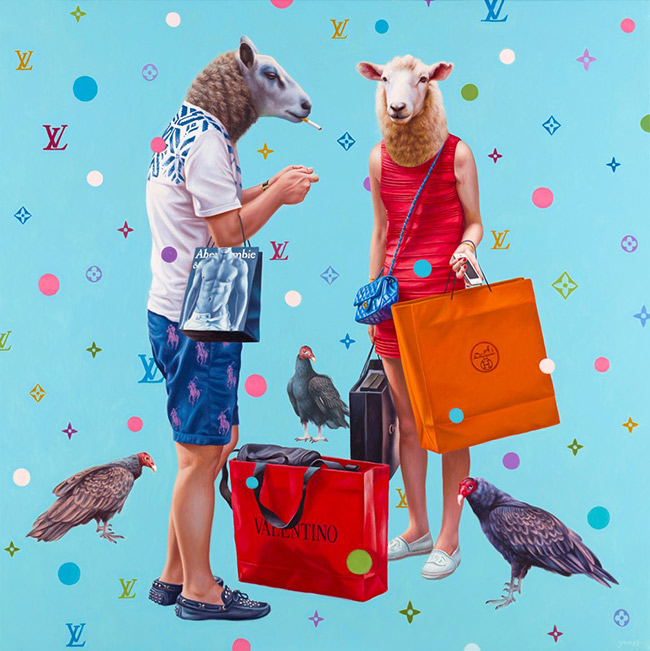 Alex Gross - Shopaholics I