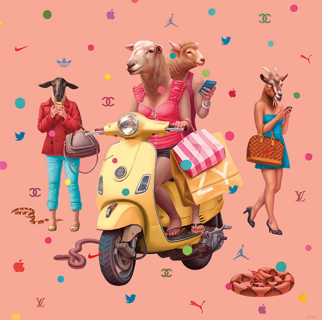Alex Gross - Shopaholics II