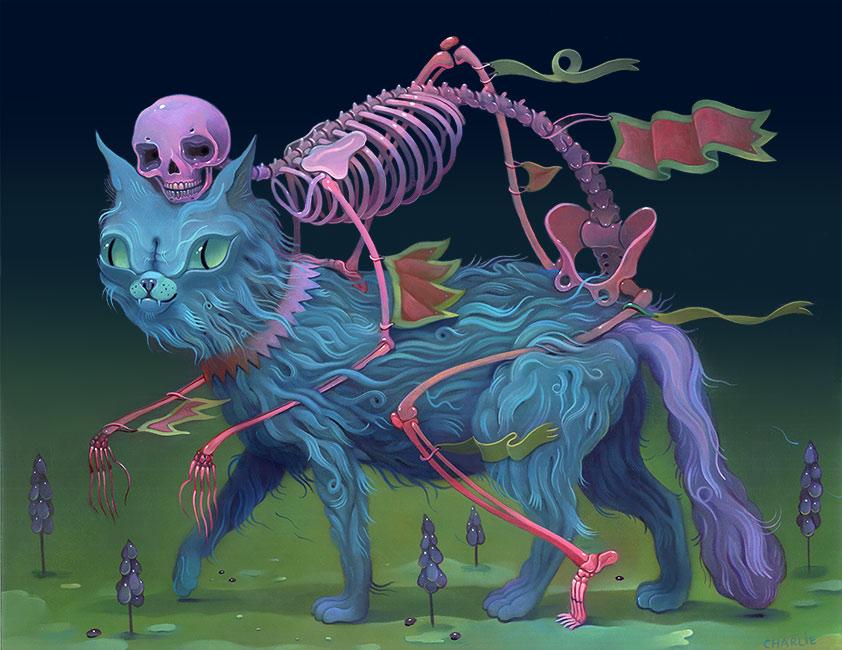 Charlie Immer - Cat Skeleton