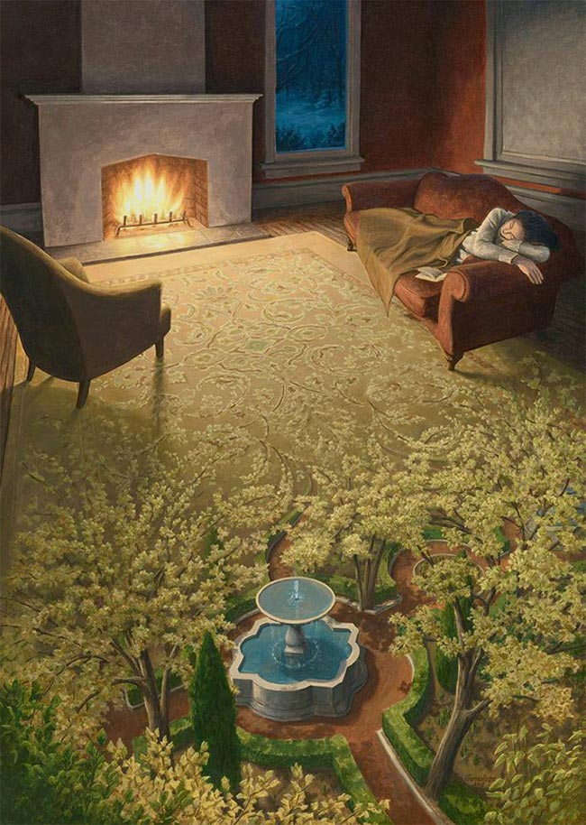 Rob Gonsalves - The Weaving of a Spring Dream