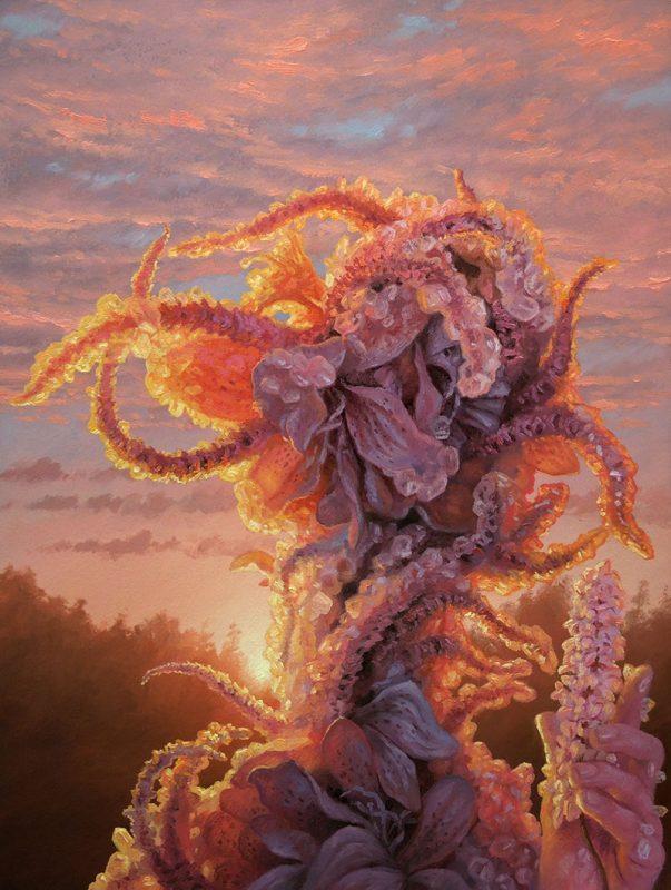 Adrian Cox - Swamp Gardener with Flower