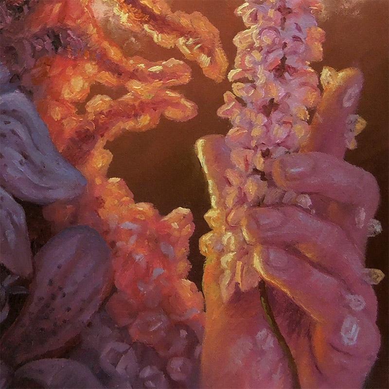 Adrian Cox - Swamp Gardener with Flower (Detail 2)