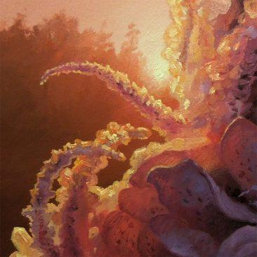 Adrian Cox - Swamp Gardener with Flower (Detail 3)